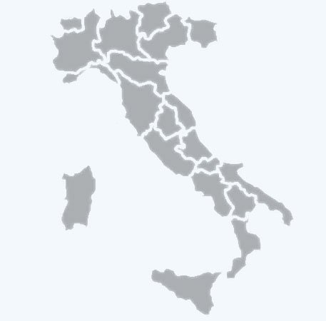 Image of a map of Italy with regional dividing lines